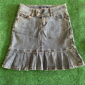 🟣 Stretch Denim Skirt with Pleats - size 0